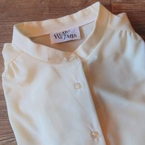 Heads & Tails Cream Button Down Blouse